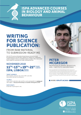 Writing for science publication: from raw material to submission-ready ms
