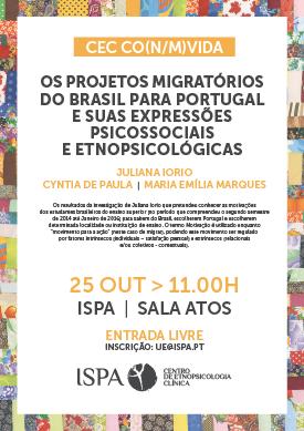 Os projetos migratórios do Brasil para Portugal e suas expressões psicossociais e etnopsicológicas