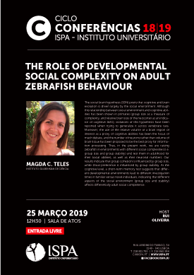 The role of developmental social complexity on adult zebrafish behaviour