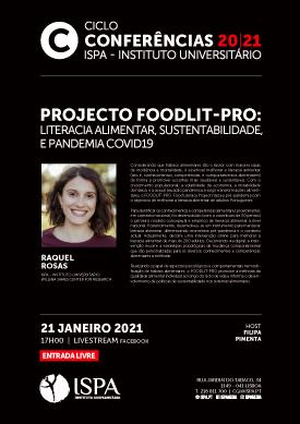 Projecto FOODLIT-PRO: literacia alimentar, sustentabilidade, e pandemia COVID19